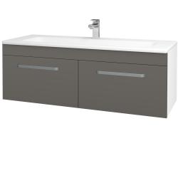 Dřevojas - Koupelnová skříň ASTON SZZ2 120 - N01 Bílá lesk / Úchytka T01 / N06 Lava (200312A)