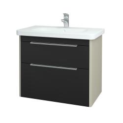 Dřevojas - Koupelnová skříň ENZO SZZ2 80 - L03 Antracit vysoký lesk / L03 Antracit vysoký lesk (113674)