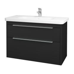 Dřevojas - Koupelnová skříň ENZO SZZ2 100 - L03 Antracit vysoký lesk / L03 Antracit vysoký lesk (113728)