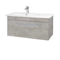 Dřevojas - Koupelnová skříň ASTON SZZ 90 - N01 Bílá lesk / Úchytka T03 / D15 Nebraska (199739C)