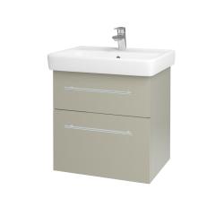 Dřevojas - Koupelnová skříň Q MAX SZZ2 60 - M05 Béžová mat / Úchytka T02 / M05 Béžová mat (198343B)