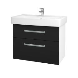 Dřevojas - Koupelnová skříň Q MAX SZZ2 80 - N01 Bílá lesk / Úchytka T01 / N08 Cosmo (198688A)