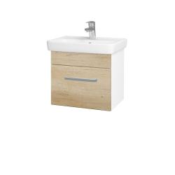 Dřevojas - Koupelnová skříň SOLO SZZ 50 - N01 Bílá lesk / Úchytka T01 / D15 Nebraska (205317A)