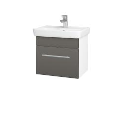 Dřevojas - Koupelnová skříň SOLO SZZ 50 - N01 Bílá lesk / Úchytka T02 / N06 Lava (205379B)