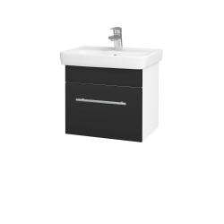 Dřevojas - Koupelnová skříň SOLO SZZ 50 - N01 Bílá lesk / Úchytka T02 / N03 Graphite (205362B)