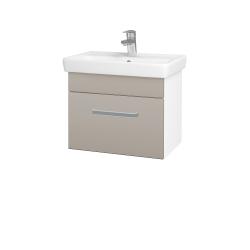 Dřevojas - Koupelnová skříň SOLO SZZ 55 - N01 Bílá lesk / Úchytka T01 / N07 Stone (205584A)
