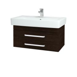 Dřevojas - Koupelnová skříň Q ZÁSUVKOVÉ SZZ2 80 - D08 Wenge / Úchytka T01 / D08 Wenge (20234A)