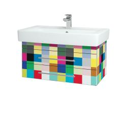 Dřevojas - Koupelnová skříň Q ZÁSUVKOVÉ SZZ2 80 - IND Individual / Úchytka T02 / IND Individual (151911B)
