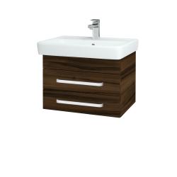 Dřevojas - Koupelnová skříň Q ZÁSUVKOVÉ SZZ2 60 - D06 Ořech / Úchytka T01 / D06 Ořech (151843A)