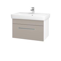 Dřevojas - Koupelnová skříň Q UNO SZZ 70 - N01 Bílá lesk / Úchytka T03 / N07 Stone (208783C)