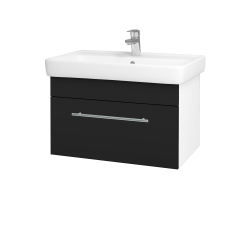 Dřevojas - Koupelnová skříň Q UNO SZZ 70 - N01 Bílá lesk / Úchytka T02 / N08 Cosmo (208790B)