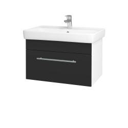 Dřevojas - Koupelnová skříň Q UNO SZZ 70 - N01 Bílá lesk / Úchytka T02 / N03 Graphite (208769B)