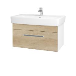 Dřevojas - Koupelnová skříň Q UNO SZZ 80 - N01 Bílá lesk / Úchytka T01 / D15 Nebraska (208912A)