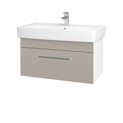 Dřevojas - Koupelnová skříň Q UNO SZZ 80 - N01 Bílá lesk / Úchytka T01 / N07 Stone (208981A)