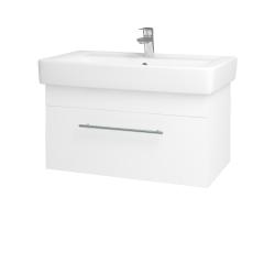 Dřevojas - Koupelnová skříň Q UNO SZZ 80 - N01 Bílá lesk / Úchytka T02 / M01 Bílá mat (208943B)