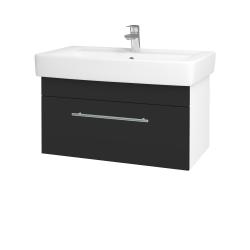 Dřevojas - Koupelnová skříň Q UNO SZZ 80 - N01 Bílá lesk / Úchytka T02 / N03 Graphite (208967B)