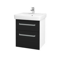 Dřevojas - Koupelnová skříň Q MAX SZZ2 55 - N01 Bílá lesk / Úchytka T01 / N08 Cosmo (198114A)