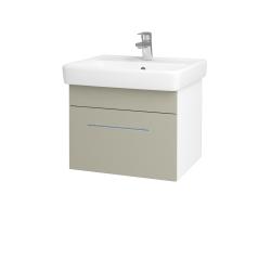 Dřevojas - Koupelnová skříň Q UNO SZZ 55 - N01 Bílá lesk / Úchytka T02 / M05 Béžová mat (208356B)