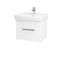 Dřevojas - Koupelnová skříň Q UNO SZZ 55 - N01 Bílá lesk / Úchytka T01 / M01 Bílá mat (208349A)