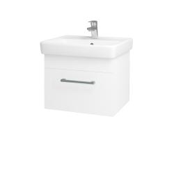 Dřevojas - Koupelnová skříň Q UNO SZZ 55 - N01 Bílá lesk / Úchytka T03 / M01 Bílá mat (208349C)