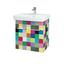Dřevojas - Koupelnová skříň Q DVEŘOVÉ SZD2 60 - IND Individual / Úchytka T03 / IND Individual (151799C)