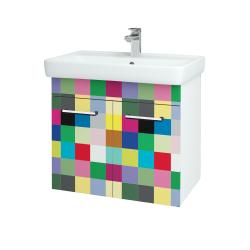 Dřevojas - Koupelnová skříň Q DVEŘOVÉ SZD2 70 - N01 Bílá lesk / Úchytka T03 / IND Individual (20500C)