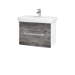 Dřevojas - Koupelnová skříň SOLO SZZ 60 - N01 Bílá lesk / Úchytka T03 / D10 Borovice Jackson (205706C)