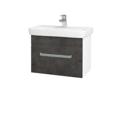 Dřevojas - Koupelnová skříň SOLO SZZ 60 - N01 Bílá lesk / Úchytka T01 / D16 Beton tmavý (205720A)