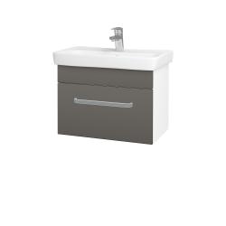 Dřevojas - Koupelnová skříň SOLO SZZ 60 - N01 Bílá lesk / Úchytka T01 / N06 Lava (205782A)