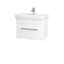 Dřevojas - Koupelnová skříň SOLO SZZ 60 - N01 Bílá lesk / Úchytka T01 / M01 Bílá mat (205744A)