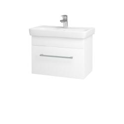 Dřevojas - Koupelnová skříň SOLO SZZ 60 - N01 Bílá lesk / Úchytka T03 / M01 Bílá mat (205744C)