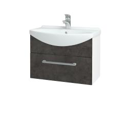 Dřevojas - Koupelnová skříň TAKE IT SZZ 65 - N01 Bílá lesk / Úchytka T03 / D16 Beton tmavý (206703C)