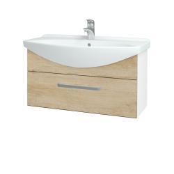 Dřevojas - Koupelnová skříň TAKE IT SZZ 85 - N01 Bílá lesk / Úchytka T01 / D15 Nebraska (207014A)
