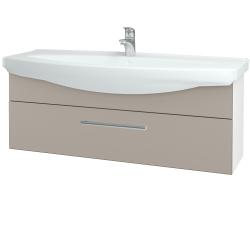 Dřevojas - Koupelnová skříň TAKE IT SZZ 120 - N01 Bílá lesk / Úchytka T03 / N07 Stone (207380C)