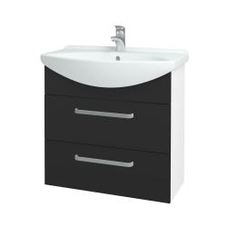 Dřevojas - Koupelnová skříň TAKE IT SZZ2 75 - N01 Bílá lesk / Úchytka T01 / N03 Graphite (207687A)