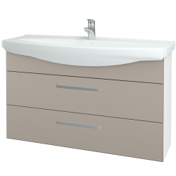 Dřevojas - Koupelnová skříň TAKE IT SZZ2 120 - N01 Bílá lesk / Úchytka T01 / N07 Stone (208189A)