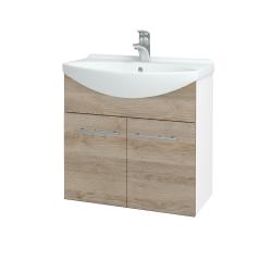Dřevojas - Koupelnová skříň TAKE IT SZD2 65 - N01 Bílá lesk / Úchytka T02 / D17 Colorado (205911B)