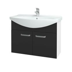 Dřevojas - Koupelnová skříň TAKE IT SZD2 85 - N01 Bílá lesk / Úchytka T01 / N03 Graphite (206246A)