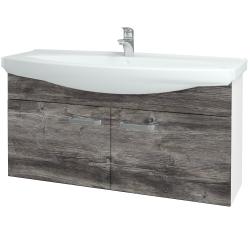 Dřevojas - Koupelnová skříň TAKE IT SZD2 120 - N01 Bílá lesk / Úchytka T01 / D10 Borovice Jackson (206529A)