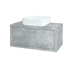 Dřevojas - Koupelnová skříň STORM SZZ 80 (umyvadlo Joy) - D01 Beton / D01 Beton (212858)