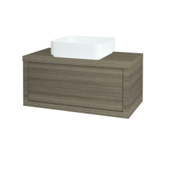 Dřevojas - Koupelnová skříň STORM SZZ 80 (umyvadlo Joy) - D03 Cafe / D03 Cafe (212872)