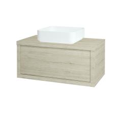 Dřevojas - Koupelnová skříň STORM SZZ 80 (umyvadlo Joy) - D05 Oregon / D05 Oregon (212896)