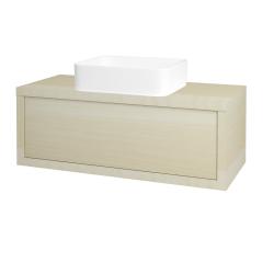 Dřevojas - Koupelnová skříň STORM SZZ 100 (umyvadlo Joy) - D02 Bříza / D02 Bříza (213251)