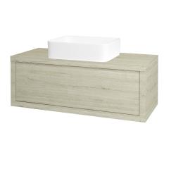 Dřevojas - Koupelnová skříň STORM SZZ 100 (umyvadlo Joy) - D05 Oregon / D05 Oregon (213282)