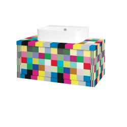 Dřevojas - Koupelnová skříň STORM SZZ 80 (umyvadlo Joy 3) - IND Individual / IND Individual (217662)