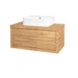 Dřevojas - Koupelnová skříň STORM SZZ 80 (umyvadlo Joy 3) - D09 Arlington / D09 Arlington (217600)