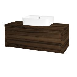 Dřevojas - Koupelnová skříň STORM SZZ 100 (umyvadlo Joy 3) - D06 Ořech / D06 Ořech (217976)