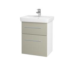 Dřevojas - Koupelnová skříň GO SZZ2 50 - N01 Bílá lesk / Úchytka T02 / M05 Béžová mat (204532B)