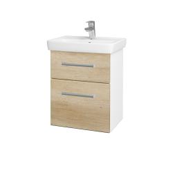 Dřevojas - Koupelnová skříň GO SZZ2 50 - N01 Bílá lesk / Úchytka T03 / D15 Nebraska (204495C)