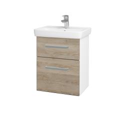 Dřevojas - Koupelnová skříň GO SZZ2 50 - N01 Bílá lesk / Úchytka T01 / D17 Colorado (204518A)